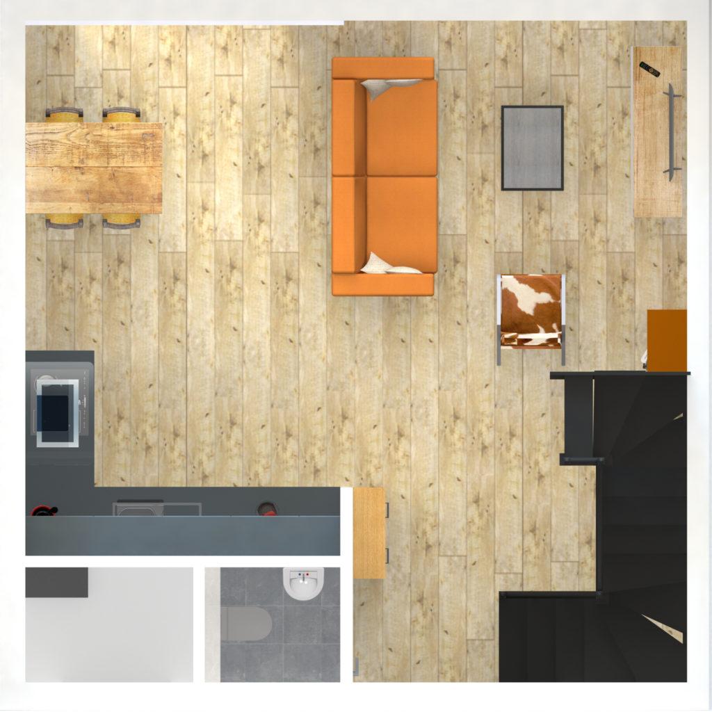 plattergond RS-housing betaalbare starterswoning tweede etage