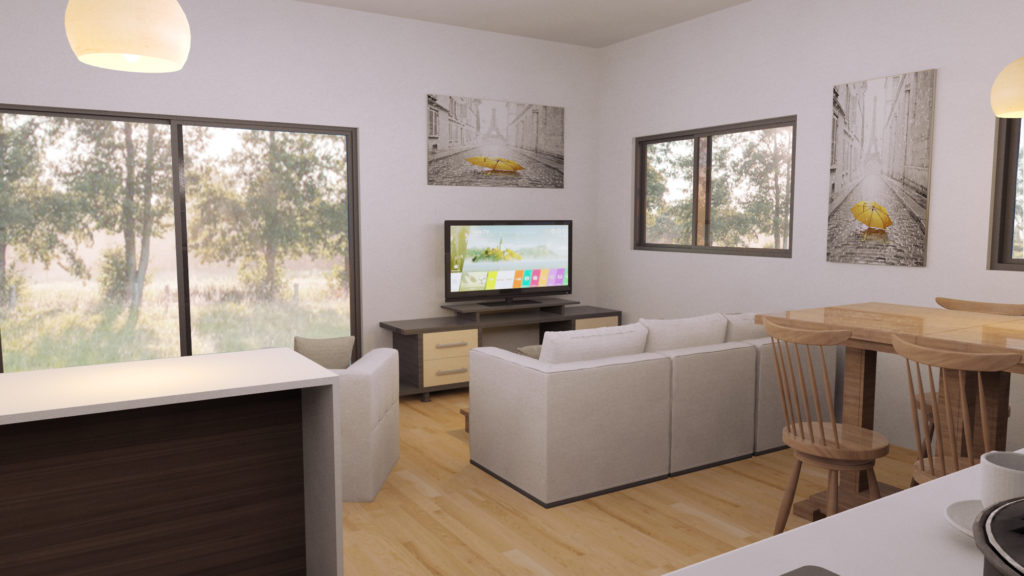 woonkamer modulaire vakantiewoning RS-Housing
